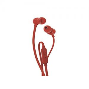 JBL T110 Wired In Red Ear Headphones price in hyderabad, telangana, nellore, vizag, bangalore